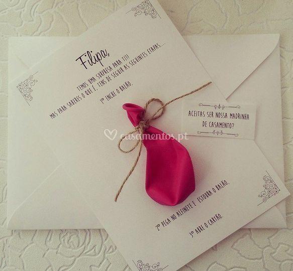 Convite para Madrinha