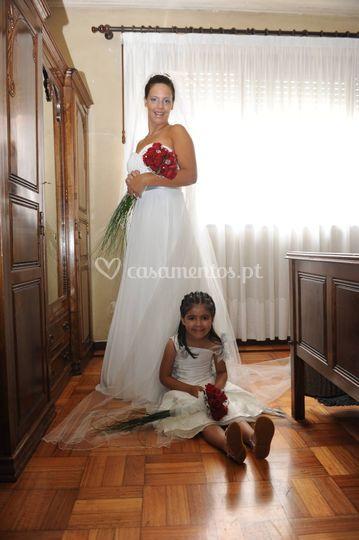 Noiva e menina das alianças