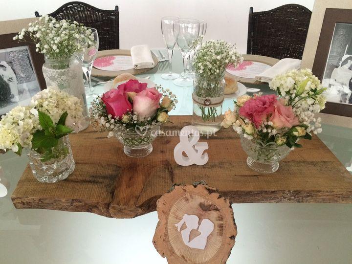 Decoração e marcação de mesas
