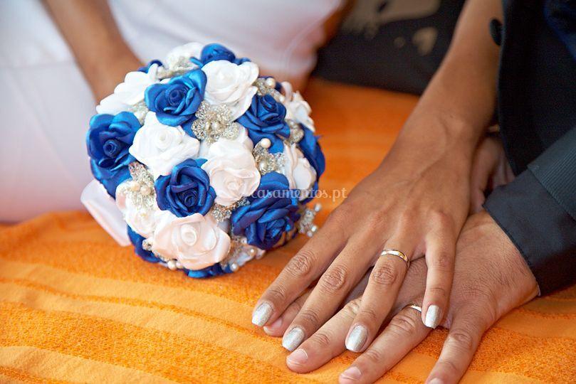 Rosas e flores de crochet