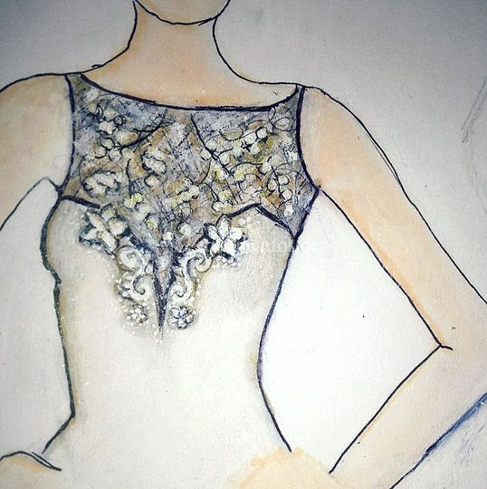 Sketch, Soft Champagne Lace