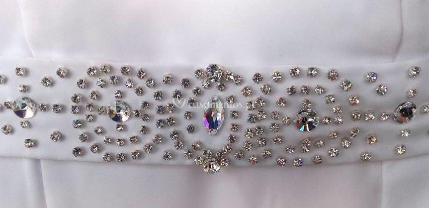 Faixa de cristais swarovski de Niña Rooster Noivas