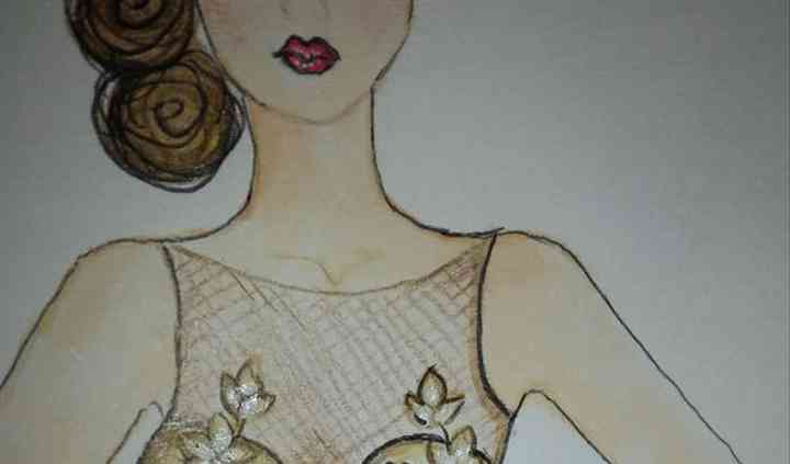 Sketch, Champagne Lace