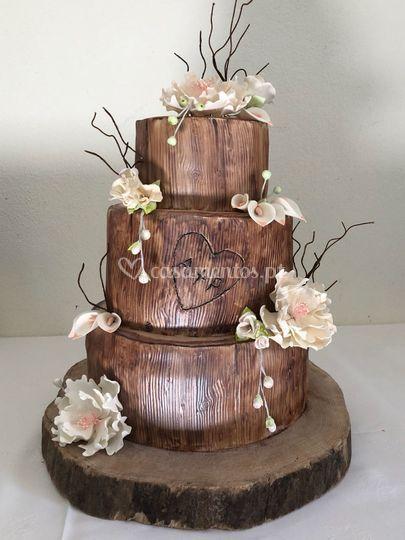 Three Wedding Cake