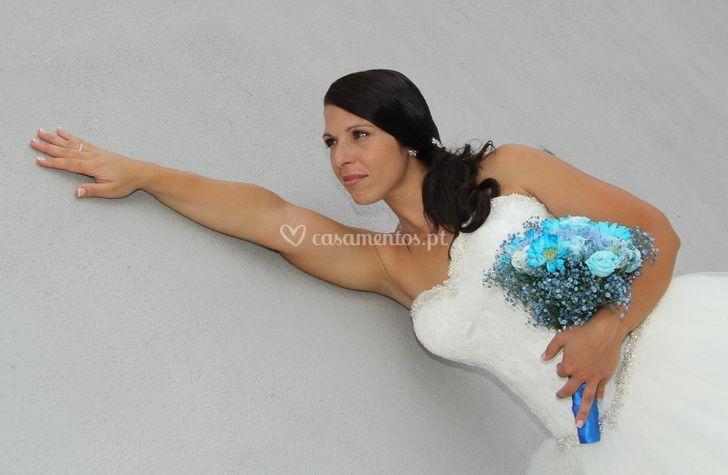 Bouquet campestre Azul