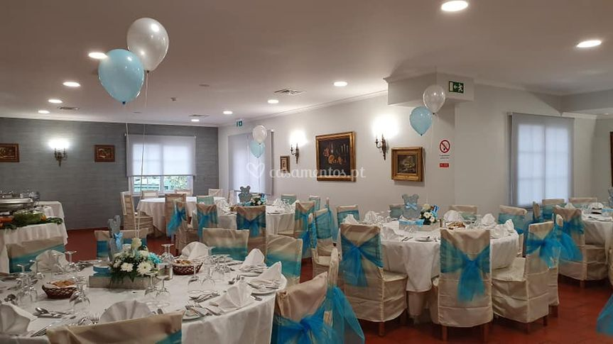 Sala festa azul