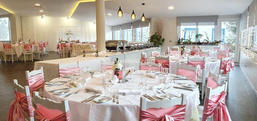 Sala festa rosa