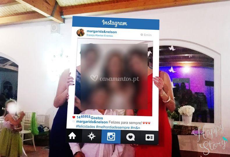 Placard instagram casamento