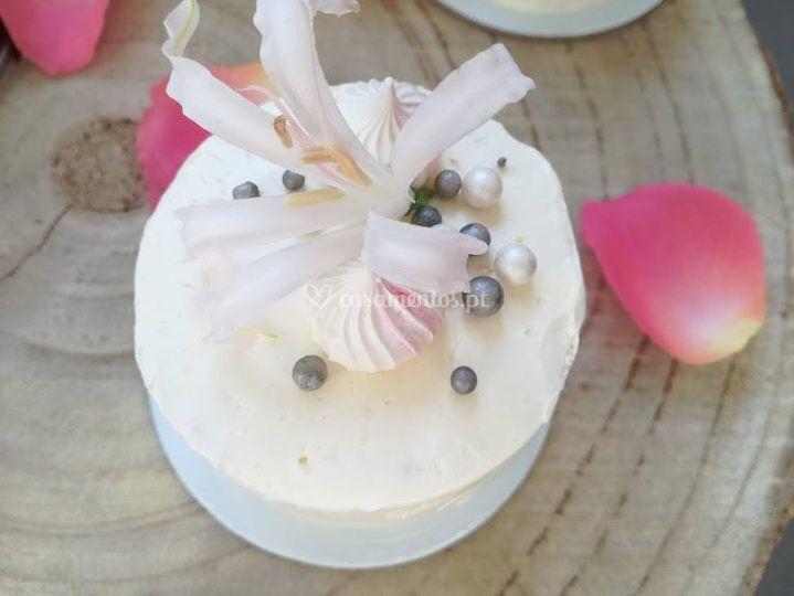 Mini bolos de casamento