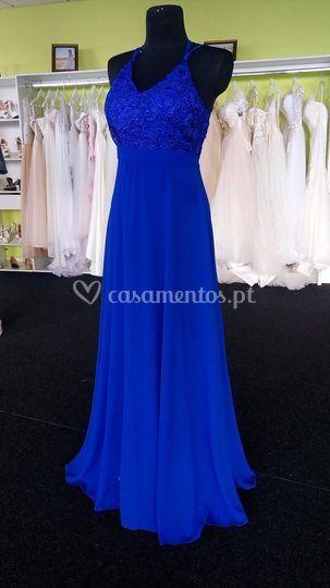 Vestido azul frente