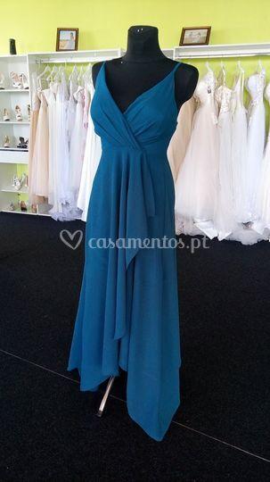 Vestido esmeralda frente