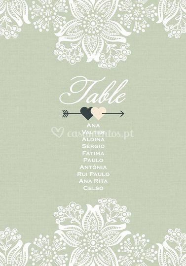 Table bridal nomes