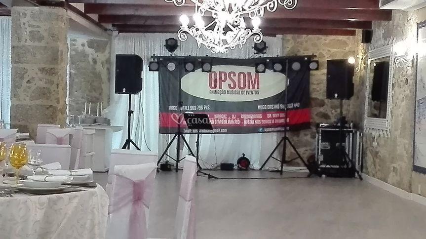 Cenario palco em casamento