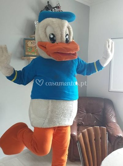 Mascote Pato Donald