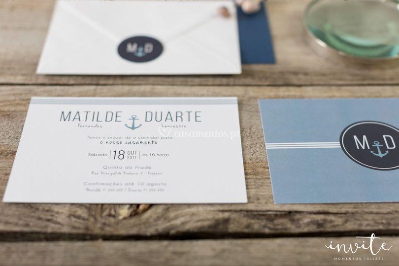 Convite nautic postal