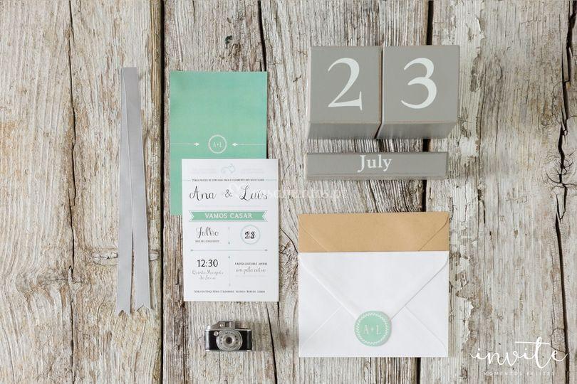 Convite mint postal