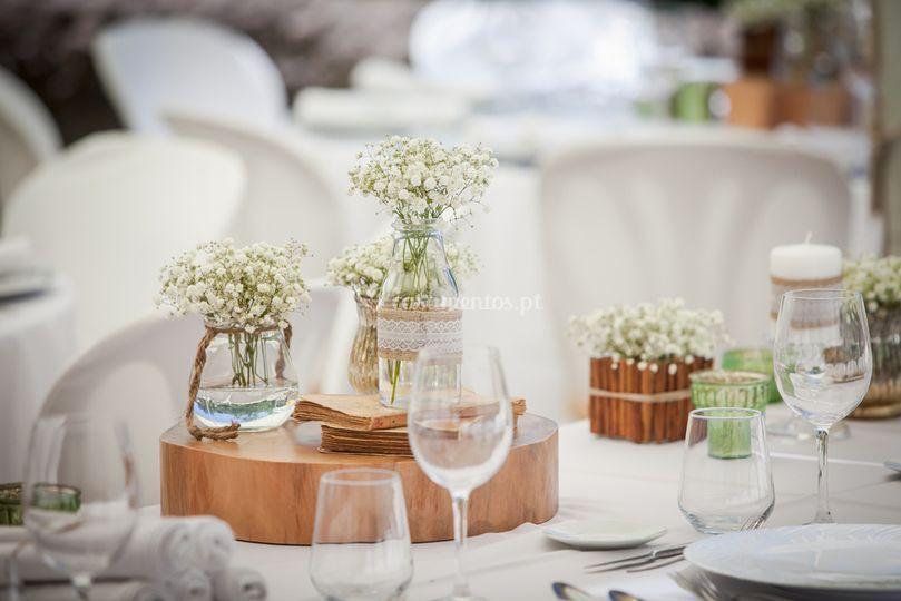 Design e decoração de mesas