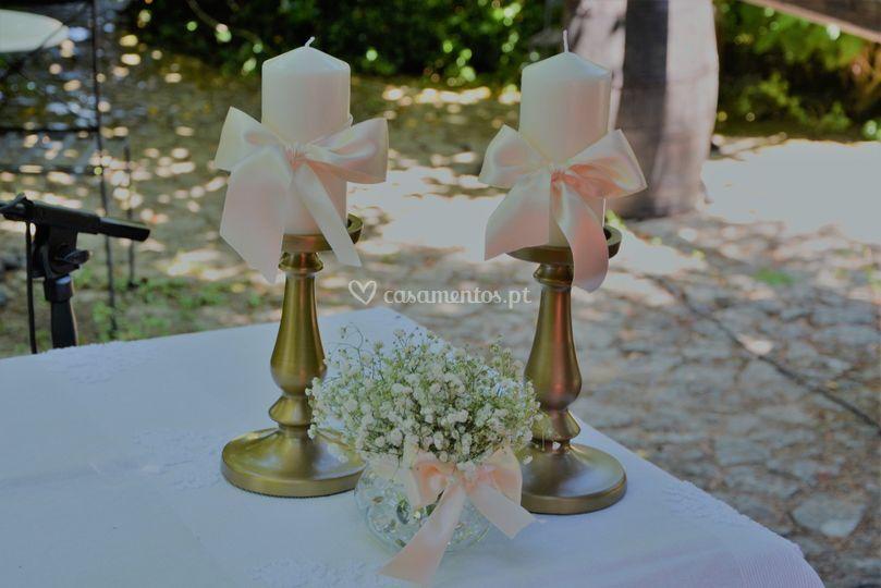 Pormenor mesa de cerimónia