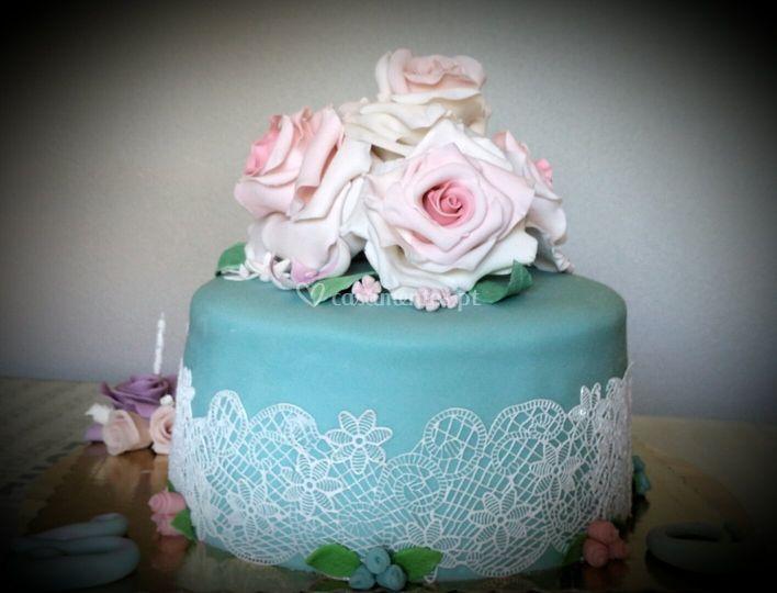 Cake lace tudo comestível