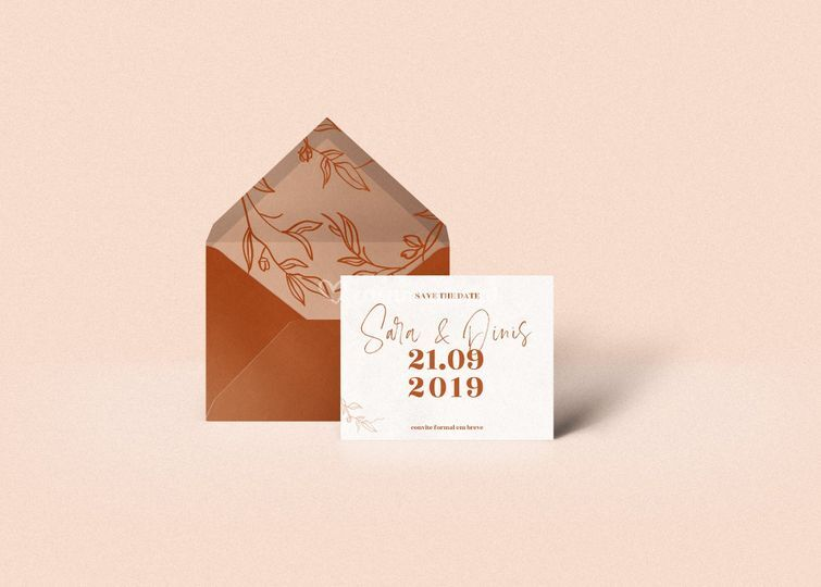 Save the date com envelope