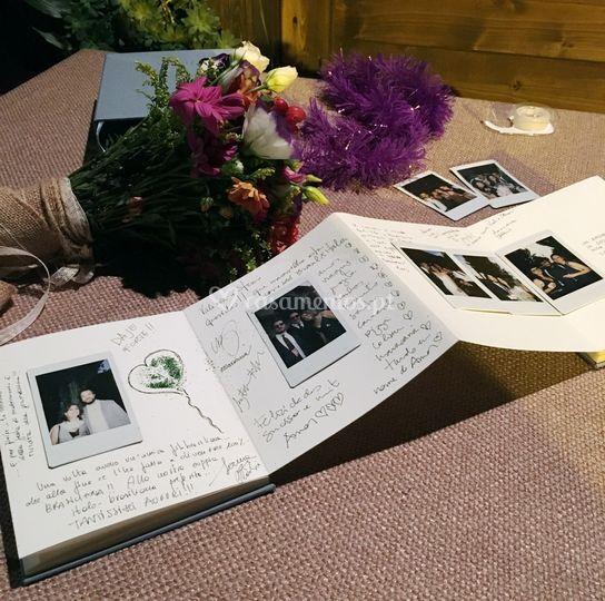 Livro de dedicatórias com caixa