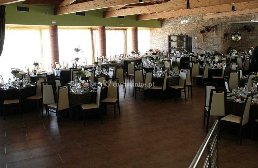 Amplo salão para festas