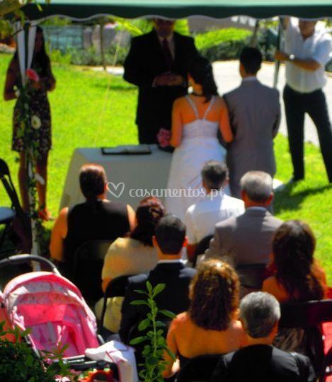 A cerimônia do exteiror
