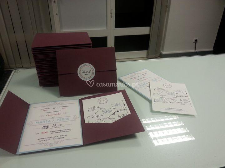 Convite de Casamento em papel