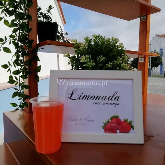 Limonada com morango