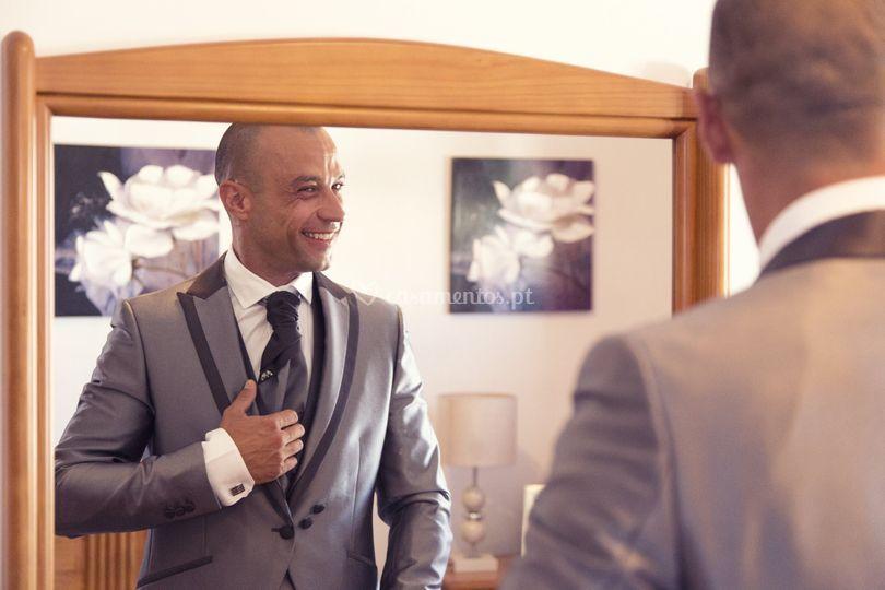 A felicidade do noivo