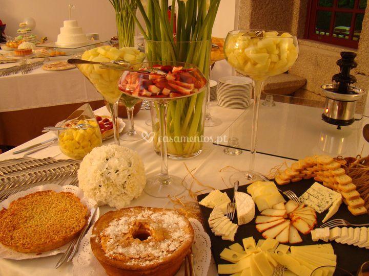 Pormenor buffet sobremesas