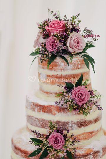 Decoração bolo pink