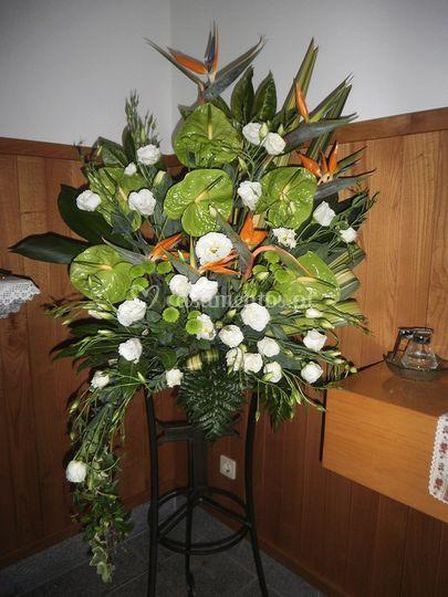 Arranjo floral Igreja