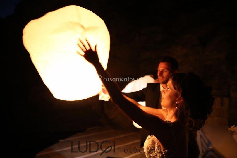 Lanternas do céu brancas