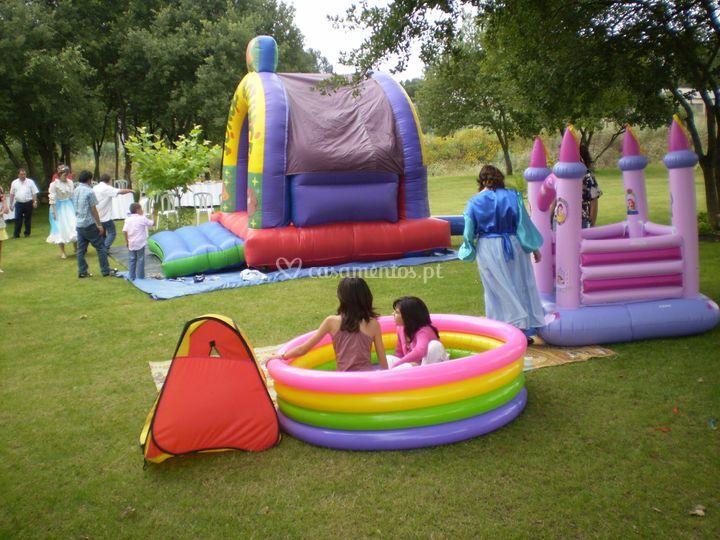Atividades infantis no jardim