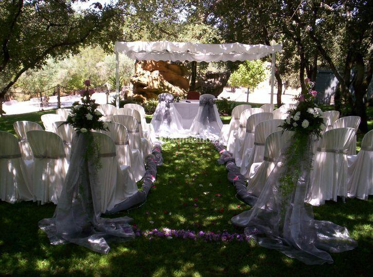 Casamento civil no jardim