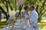 Corte do bolo dos noivos