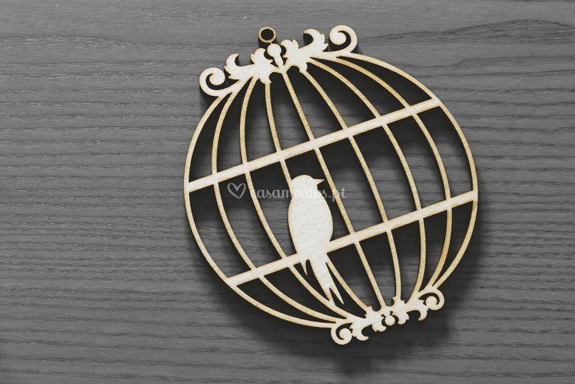 Decoração gaiola c/pássaro