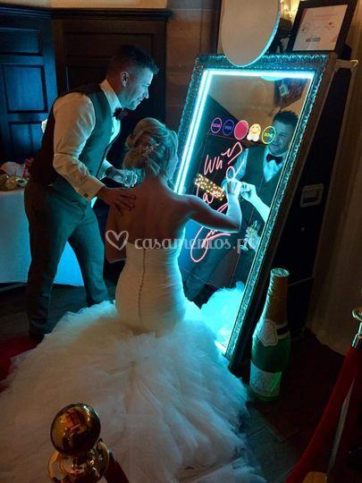 Opção photobooth