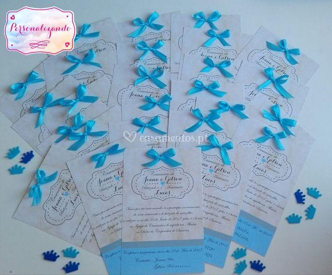 Convites casamento e batizado