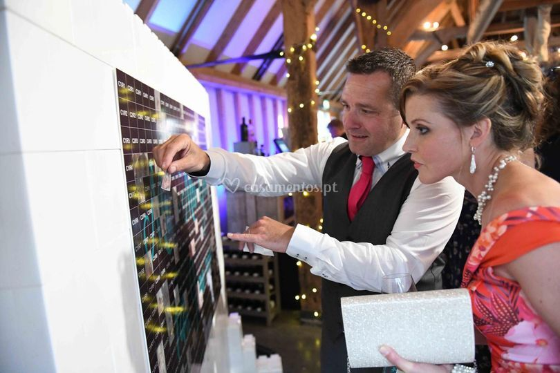 Serviço wedding mosaic wall