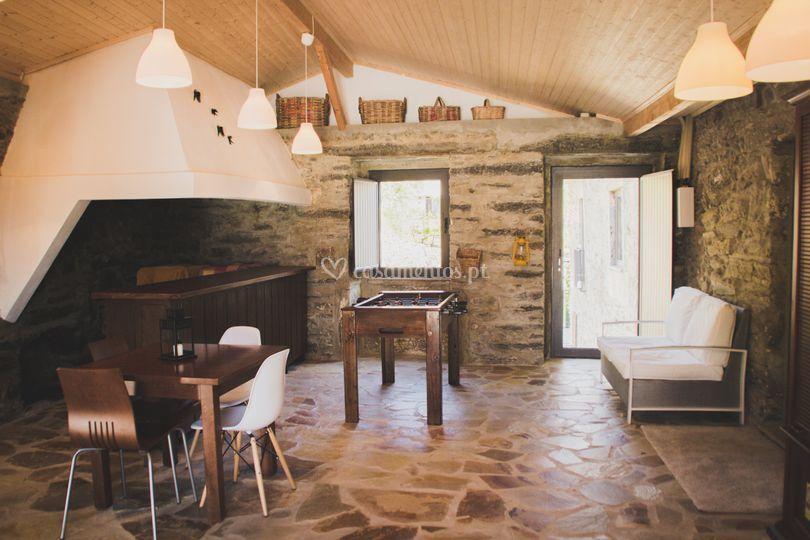 Antiga cozinha rústica da casa