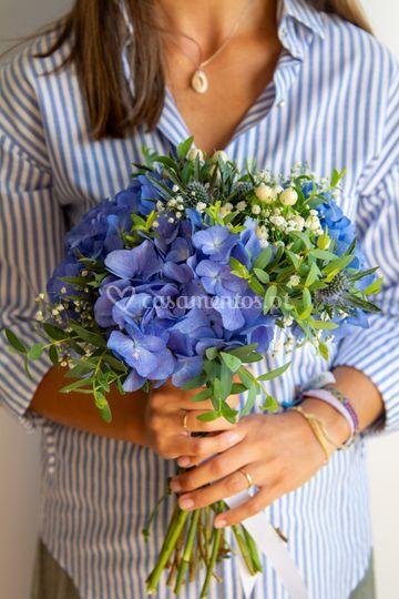 Bouquet noiva azul