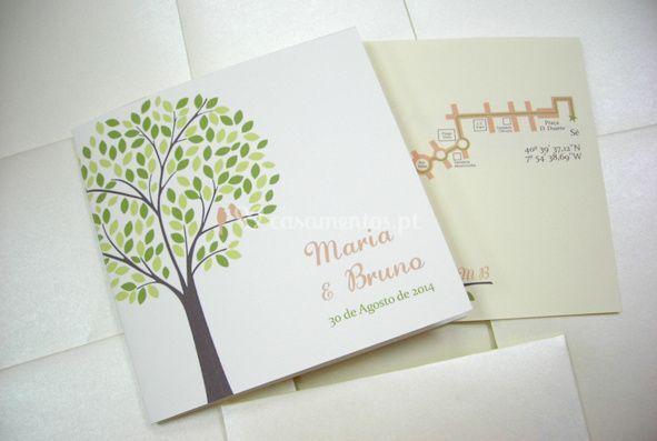 Convite de casamento M&B
