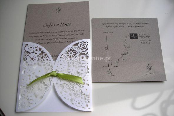Convite de casamento S&J