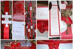Casamento vermelho e branco