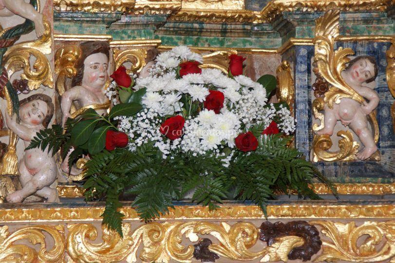 Arranjo altar igreja