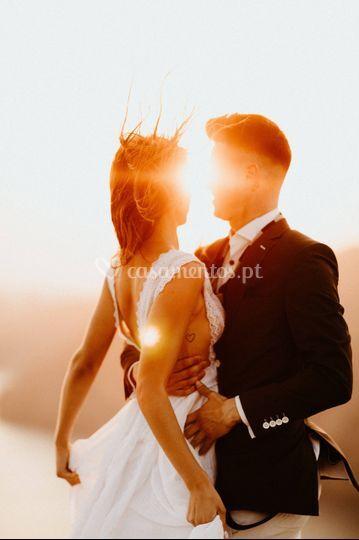 Casamento a dois em Santorini