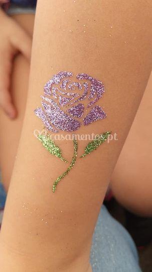 Tatuagem glitter