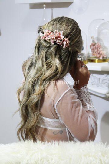 Bride trash the dress.